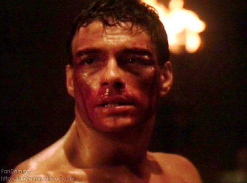 Image result for Jean claude van damme bloody face