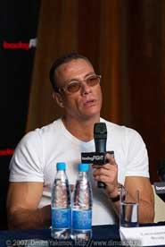 Van Damme at conference bodogFIGHT